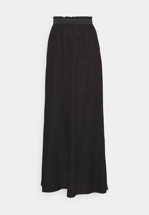 ONLVENEDIG PAPERBAG LONGSKIRT - Falda larga - black