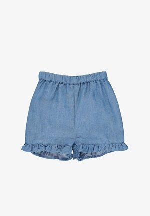 STEIFF COLLECTION JEANS SHORTS MIT GUMMIZUGBUND - Denim shorts - colony blue