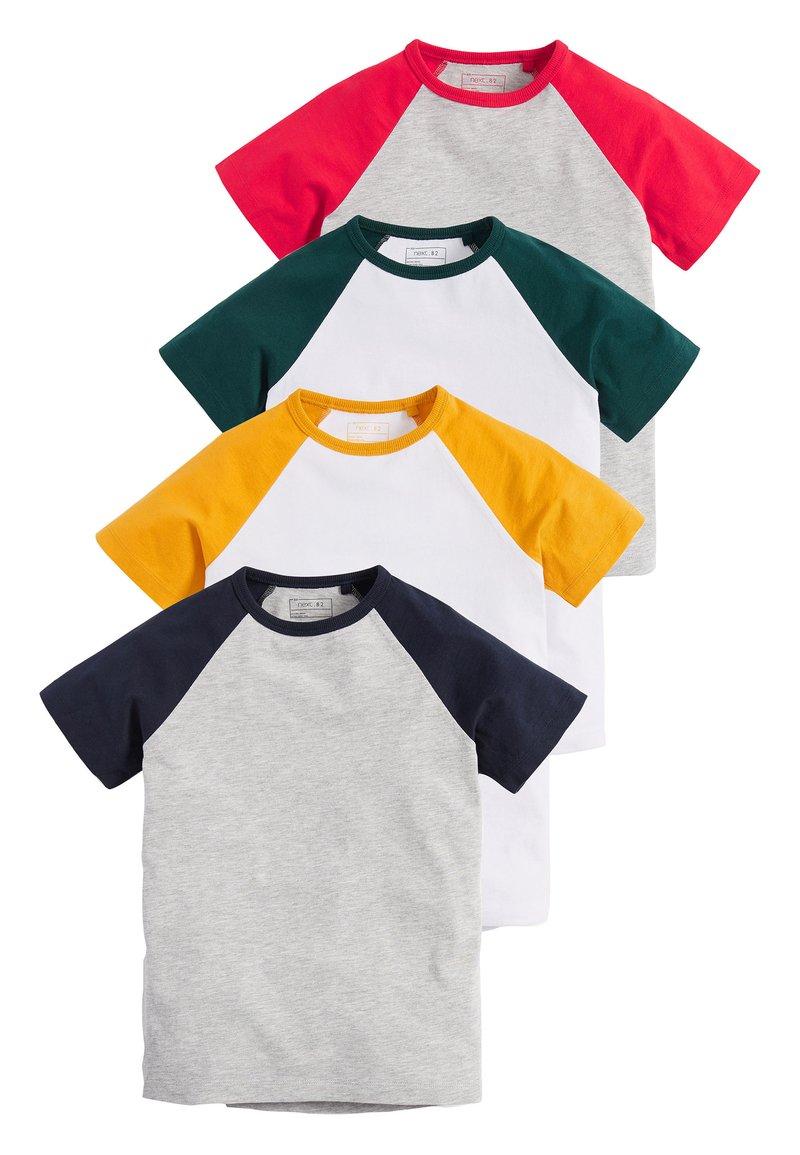 Next - 4 PACK RAGLAN T-SHIRTS - Print T-shirt - grey