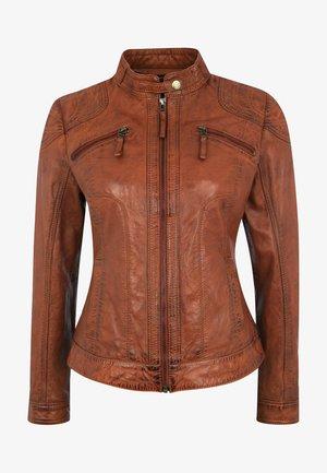 APPLE OF EDEN LEDERJACKE BROWNY - Leather jacket - cognac