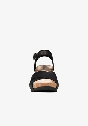 FLEX SUN - Sandaler med høye hæler - schwarzes leder