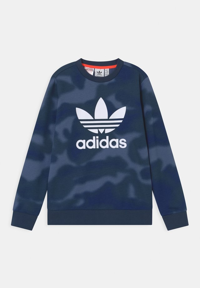 CAMO TREFOIL UNISEX - Sweatshirt - crew blue/white
