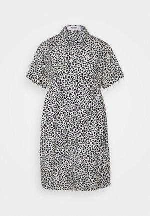 SMOCK DRESS DALMATIAN - Shirt dress - white