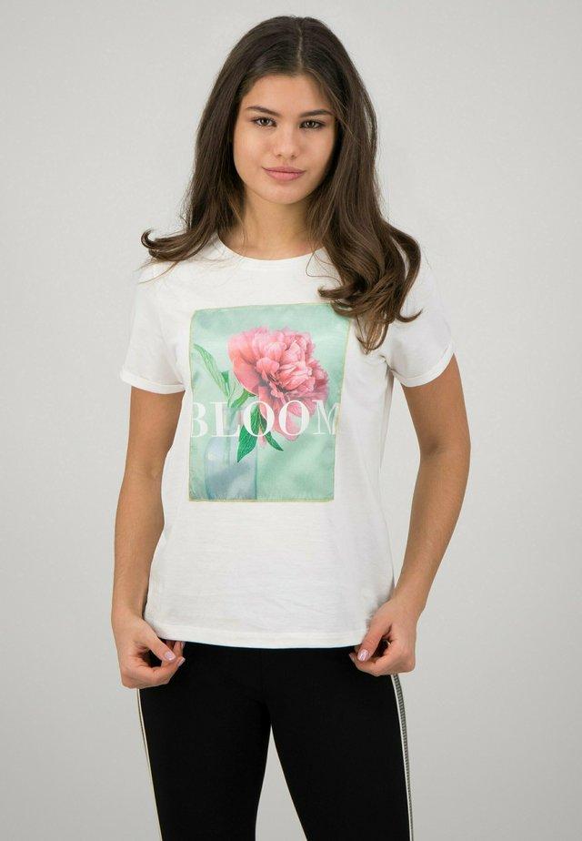 T-shirt imprimé - offwhite multicolor