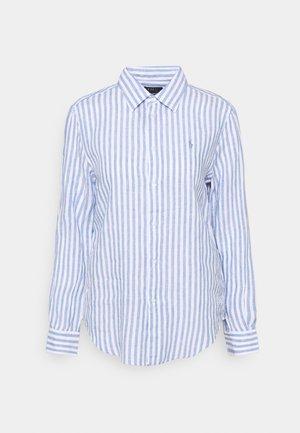 STRIPE LONG SLEEVE - Button-down blouse - white