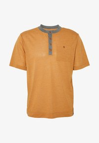 Patagonia - CAP COOL TRAIL BIKE HENLEY - T-shirt print - wood brown - 3
