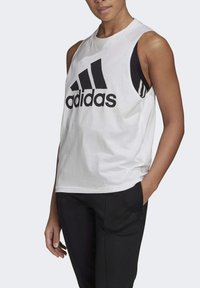 adidas Performance - BADGE OF SPORT COTTON TANK TOP - Top - white - 4