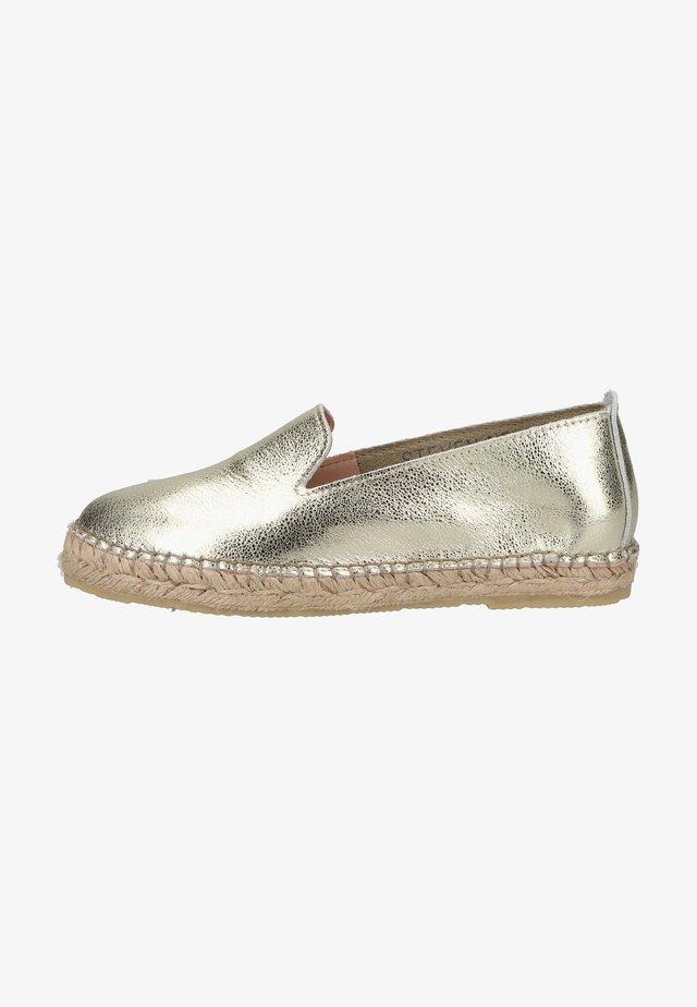 Espadrilles - gold leather