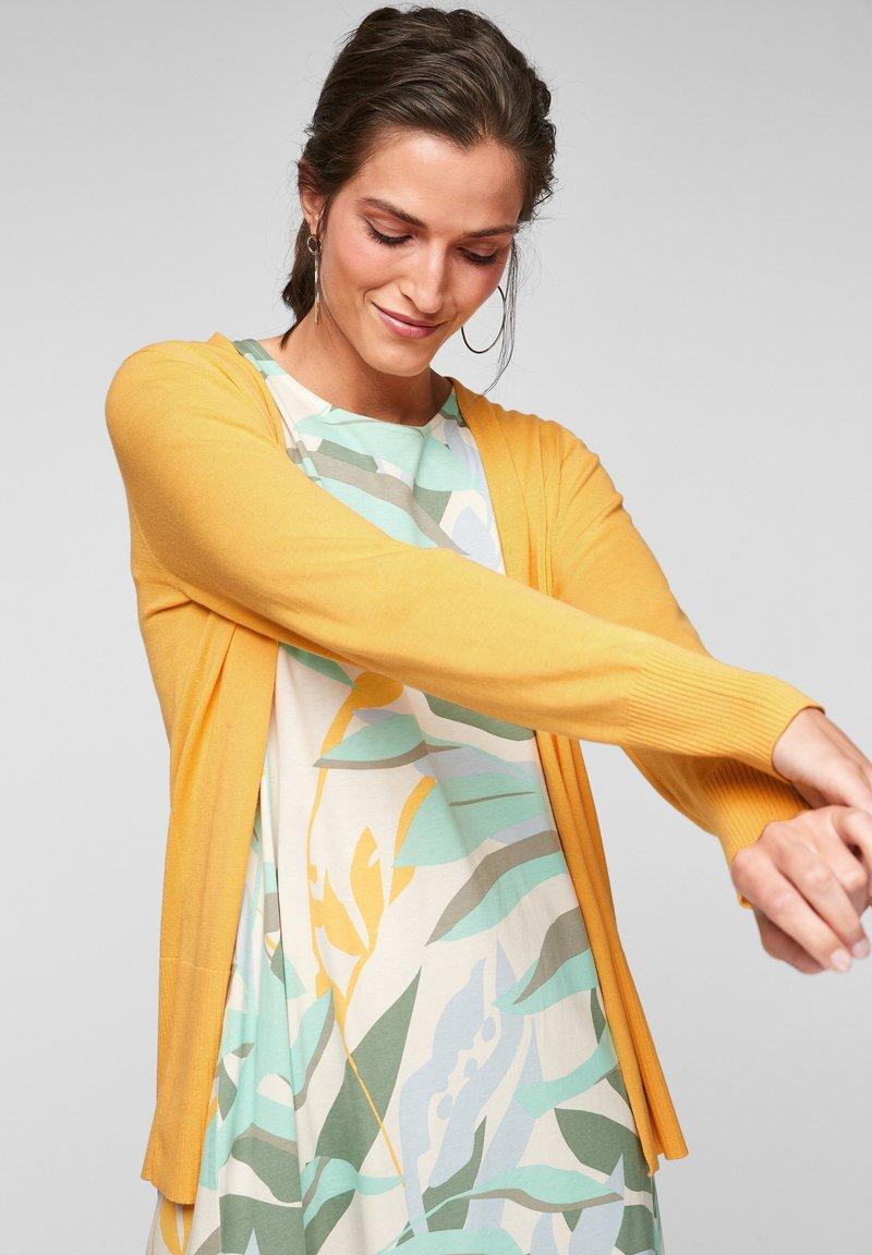 s.Oliver - VESTE - Cardigan - bright yellow