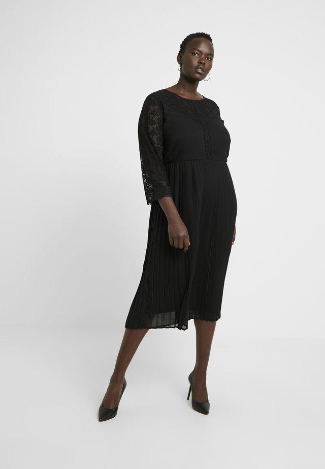 JRELYSA 3/4 SLEEVE MIDI DRESS - Day dress - black