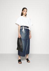 MM6 Maison Margiela - SKIRT - Denim skirt - vintage wash - 1