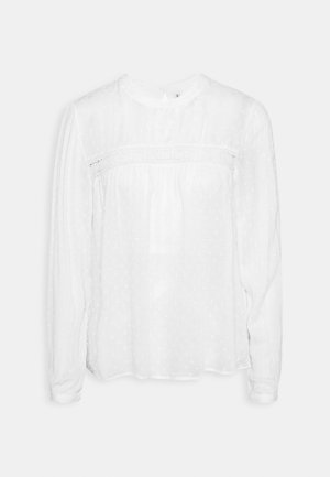 ONLPELIA LIFE DOT BLOUSE - Long sleeved top - cloud dancer