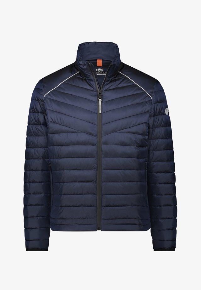 Gewatteerde jas - dark-blue plain