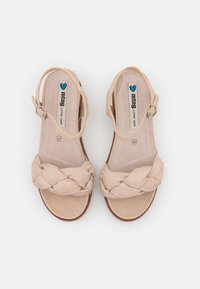 mtng - WILLIS - Sandály na platformě - beige - 4