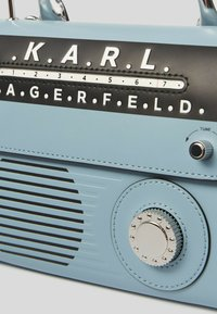 KARL LAGERFELD - RADIO MINI  - Handbag - light blue/silver - 3