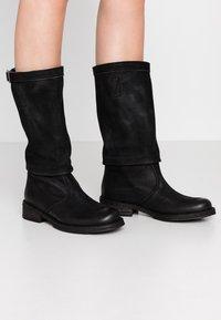 Felmini - COOPER - Cowboy/Biker boots - morat black - 0