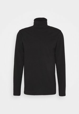 TED ROLLNECK - T-shirt à manches longues - black