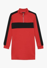 LMTD - NLFLAMIA ZIP DRESS - Jersey dress - poppy red/black - 0