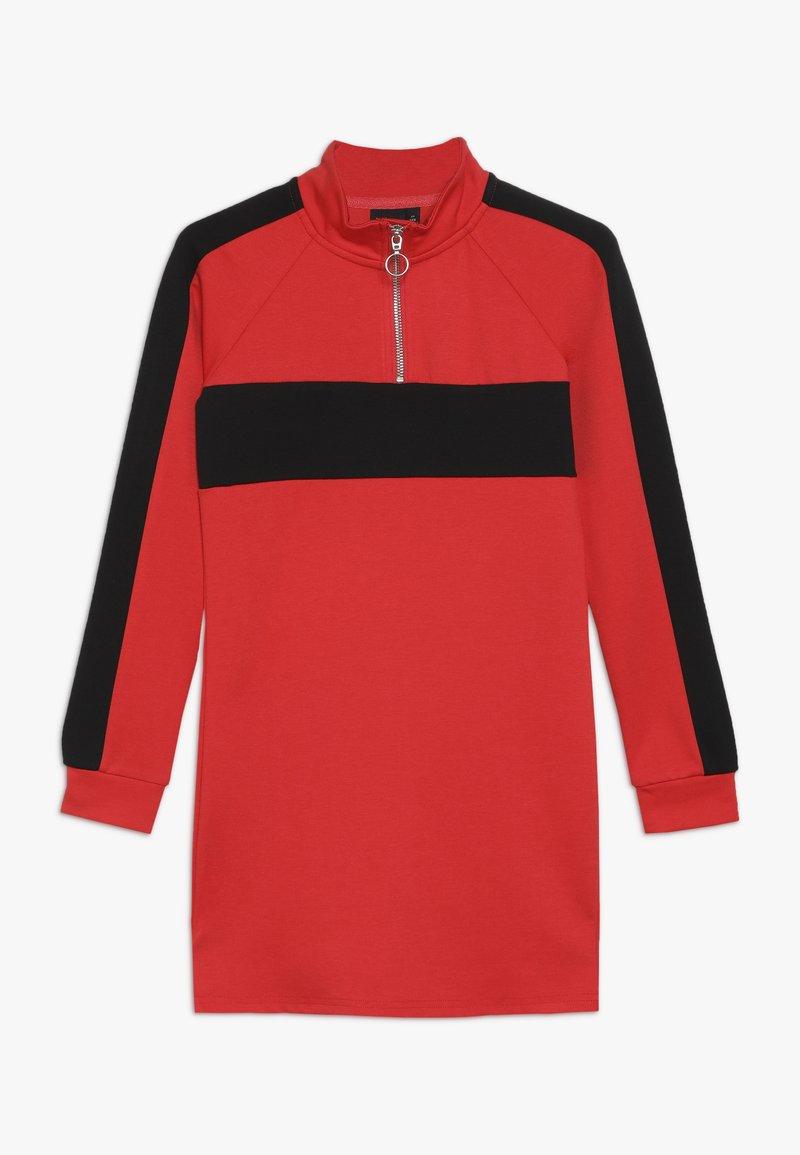 LMTD - NLFLAMIA ZIP DRESS - Jersey dress - poppy red/black