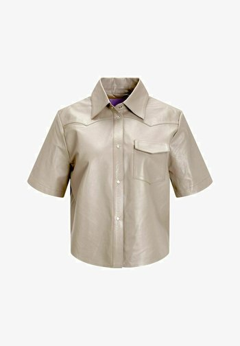 Button-down blouse - brindle