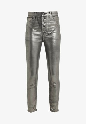 LILLIE SUPER HIGH RISE  - Trousers - galactic silver