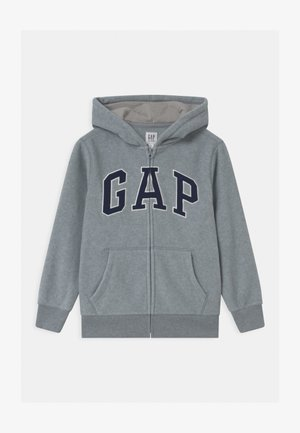 BOY ARCH HOOD - Fleecejacke - light heather grey