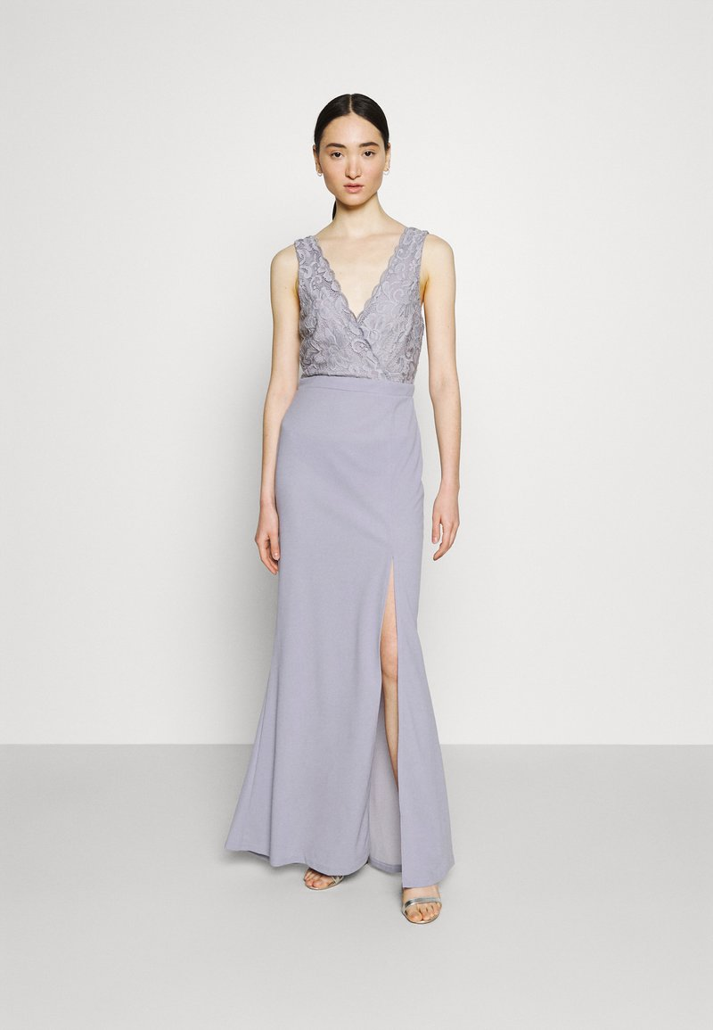 Nly by Nelly - BREAK YOUR HEART LACE GOWN - Occasion wear - dusty blue