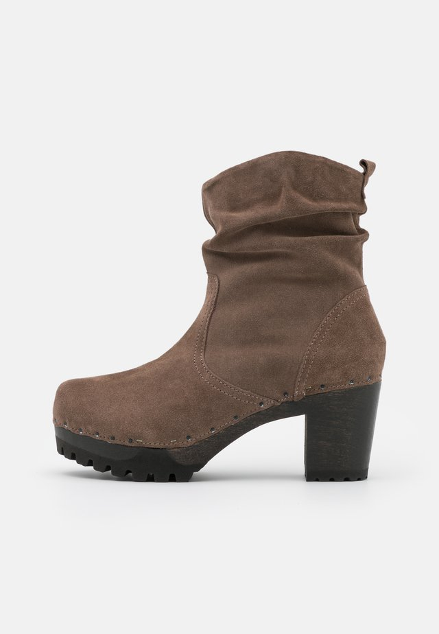 BOOTIE - Platform ankle boots - taupe