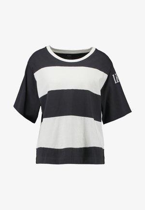 RUGBY STRIPE PARKER - T-shirt imprimé - mottled dark grey/white