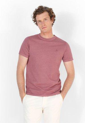 SKULL  - T-shirt basic - light burgundy