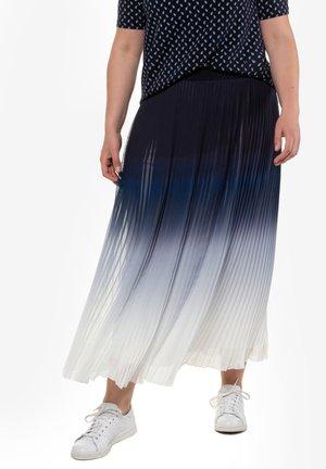 Pleated skirt - dark blue