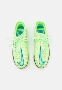 Nike Performance - JR PHANTOM GT ACADEMY DF TF UNISEX - Kopačky na umělý trávník - lime glow/aquamarine - 3