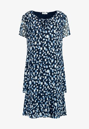 Day dress - dark navy bleu druck