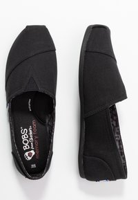 Skechers - BOBS PLUSH - Slip-ons - black - 3