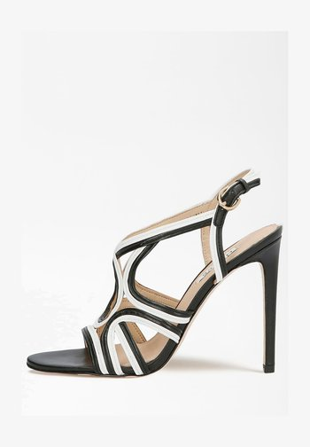 FIDESSA - Sandalen met hoge hak - mehrfarbig, weiß