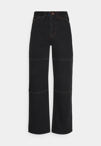 GALAXY TROUSERS - Relaxed fit -farkut - washed black