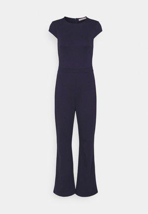 CAP SLEEVES PUNTO WIDE LEG - Jumpsuit - dark blue