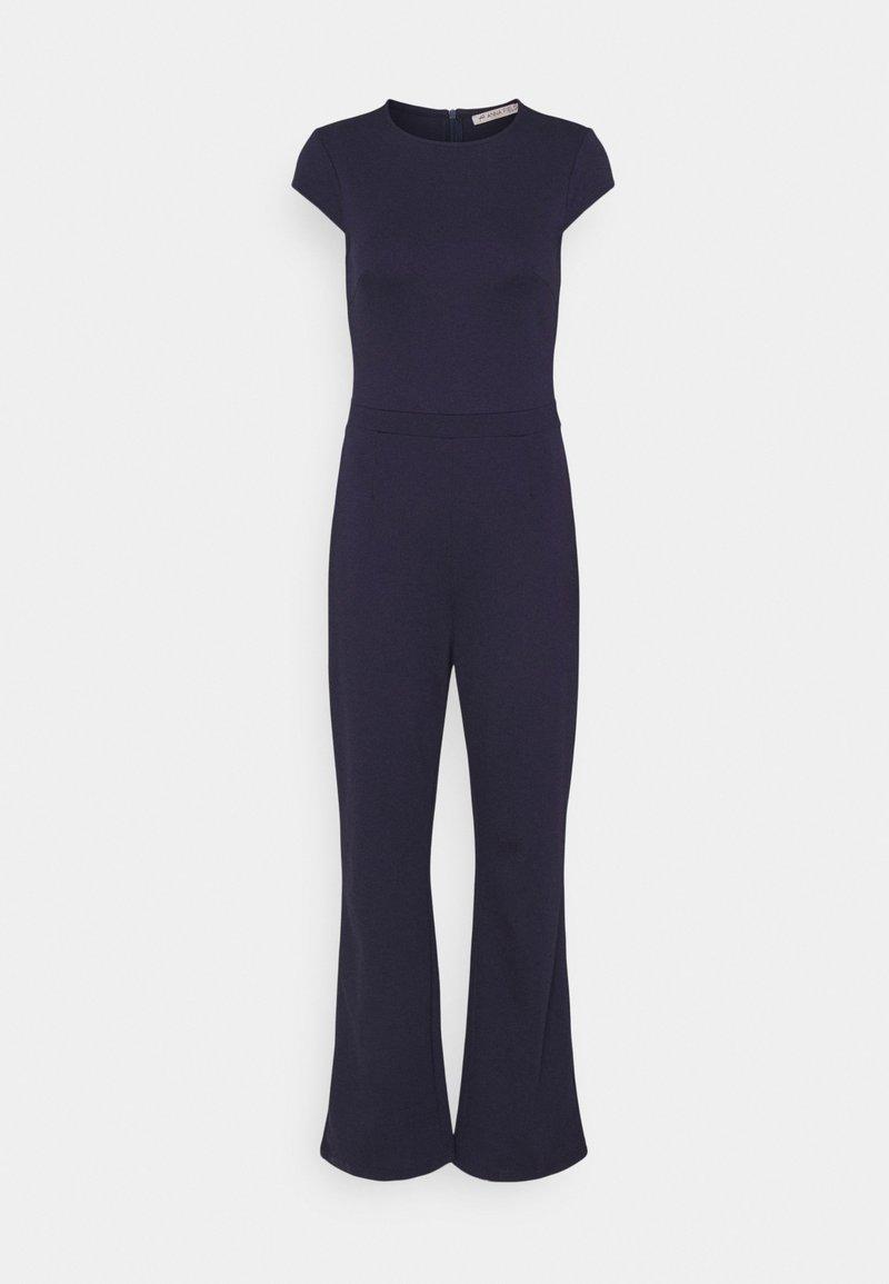 Anna Field - CAP SLEEVES PUNTO WIDE LEG - Overall / Jumpsuit - dark blue