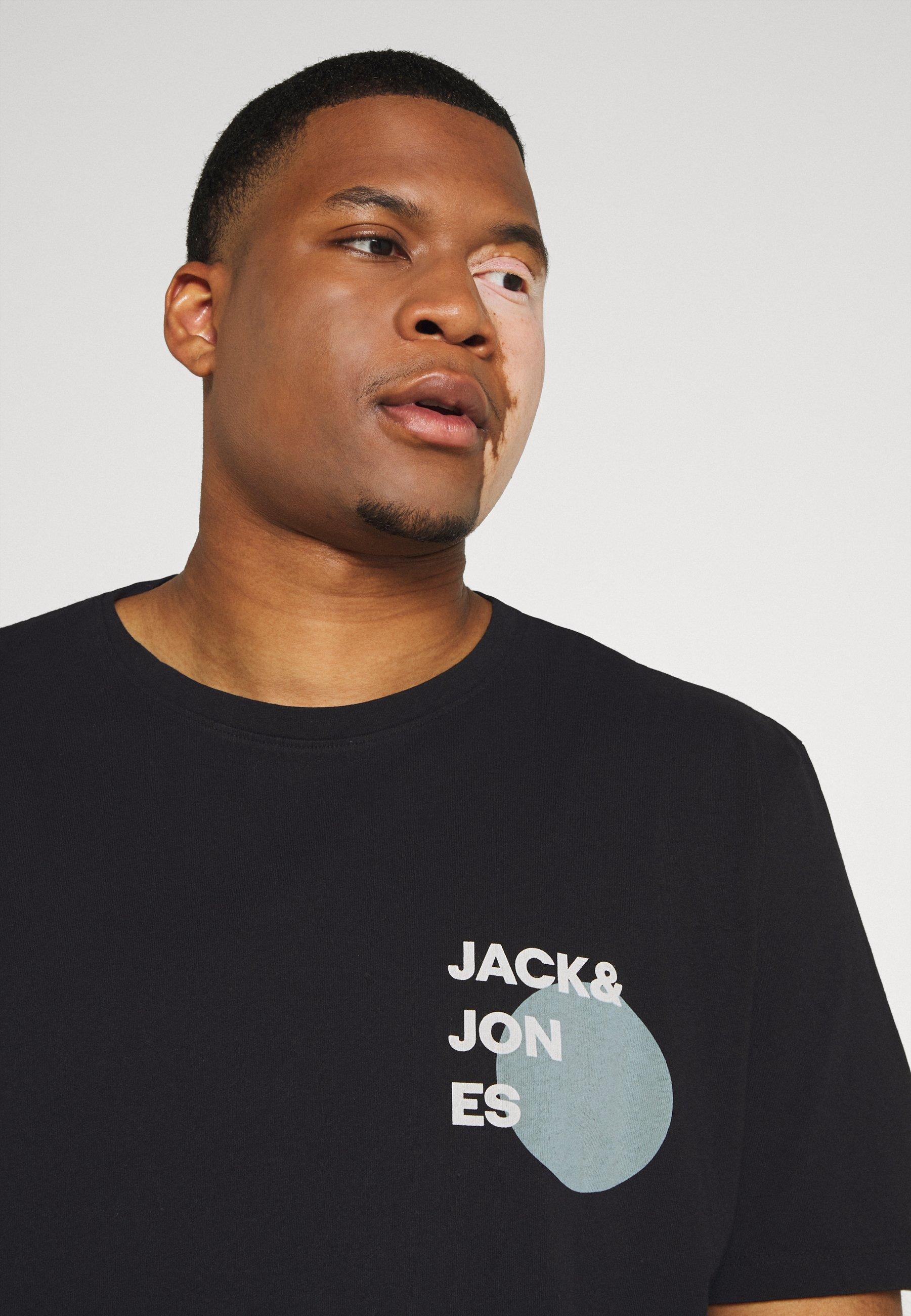 Jack & Jones JJAARHUS TEE CREW NECK   - Print T-shirt - black cYZvk