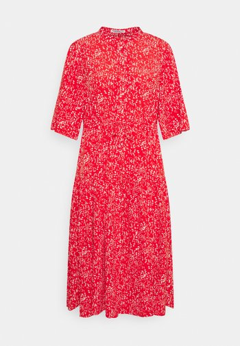 TIE WAIST SHIRT DRESS - Shirt dress - red