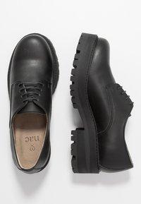 NAE Vegan Shoes - ALWIN - Šněrovací boty - black - 3