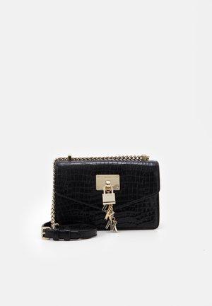 ELISSA SHOULDER - Across body bag - black/gold-coloured