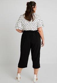 New Look Curves - EMERALD TIE WAIST CROP - Trousers - black - 2