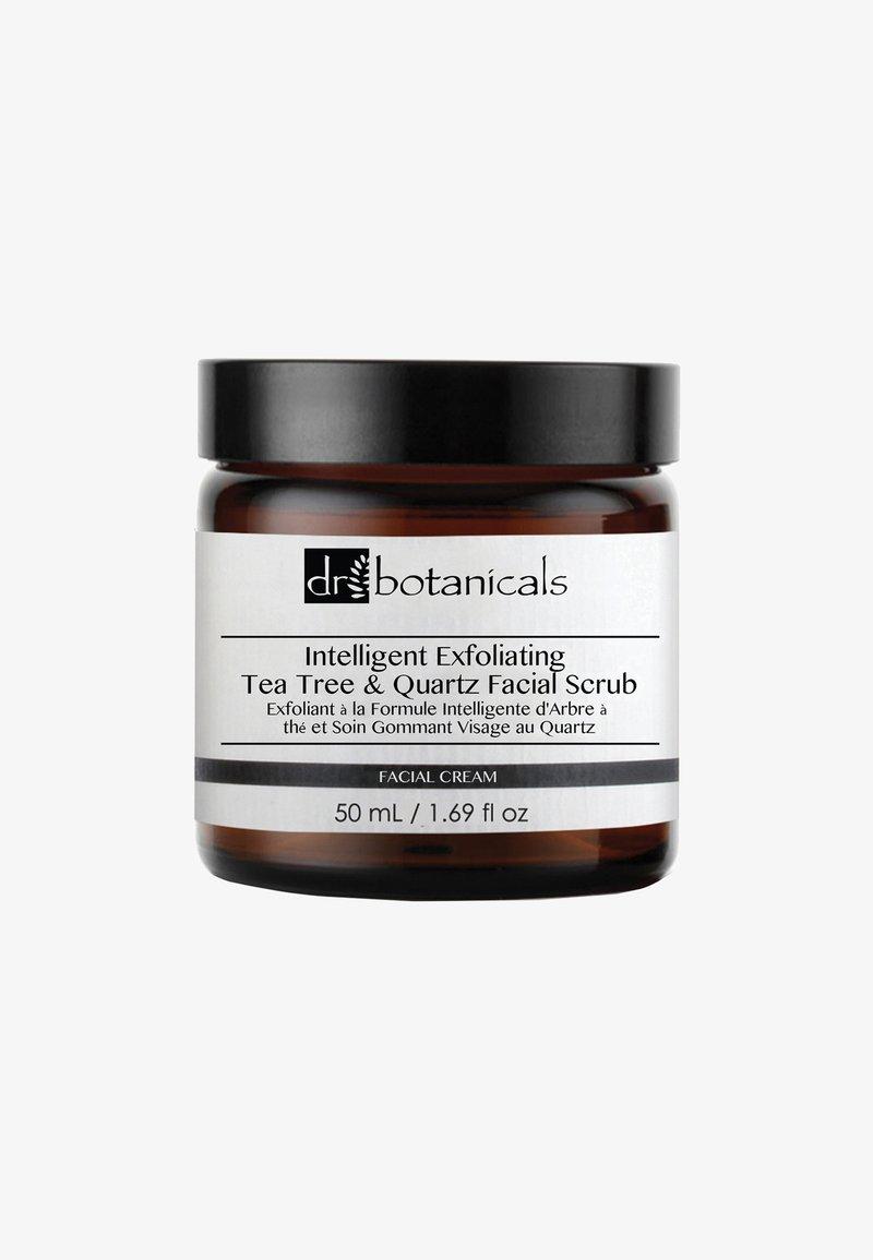 Dr Botanicals - INTELLIGENT EXFOLIATING TEA TREE AND QUARTZ FACIAL SCRUB 50ML - Face scrub - -