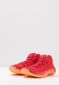 Under Armour - Basketball shoes - red/glow orange/black - 2