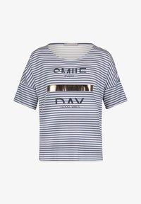 Betty & Co - Print T-shirt - weiß/blau - 3