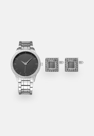 WATCH CUFFLINK SET MANSCHETTENKNÖPFE - Reloj - silver-coloured
