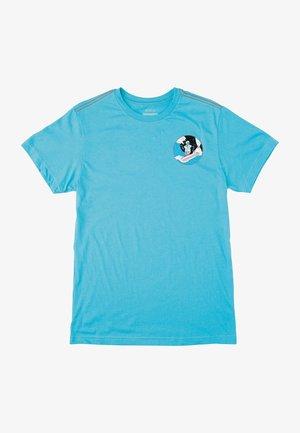 LUKE P SKULL SHRED  - Print T-shirt - horizon blue