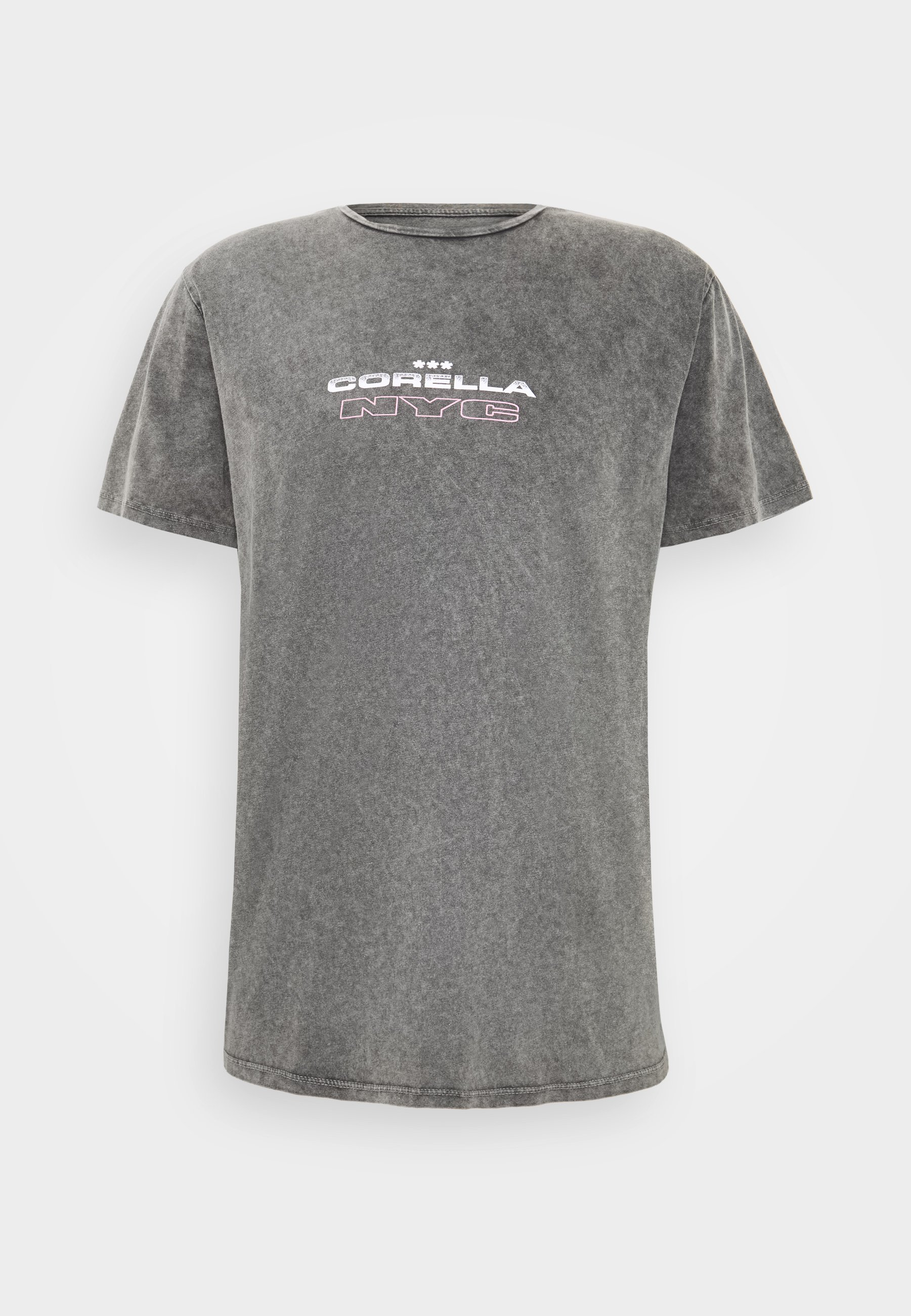 CORELLA NYC VINTAGE T shirts med print charcoalgrå