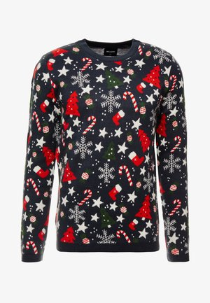 ONSXMAS HOMAS CREW NECK - Stickad tröja - blue nights